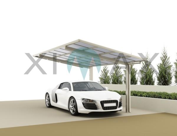 Ximax Carport Linea Typ 80 Standard Edelstahl-Look