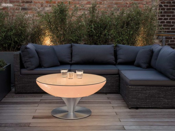 Moree Tisch Lounge 45 LED Accu Outdoor