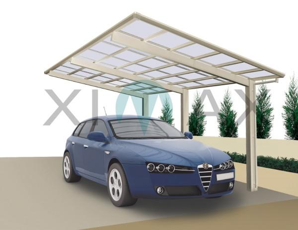 Ximax Carport Linea Typ 110 Standard Edelstahl-Look