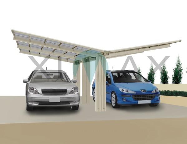 Ximax Carport Linea Typ 110 Y-Ausführung Edelstahl-Look