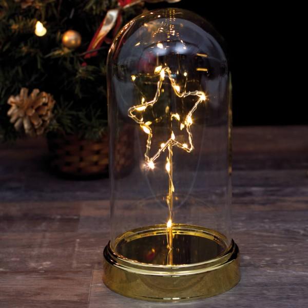 Best Season LED-Glocke STERN, 11 warmweiße LEDs, Ø 115 mm