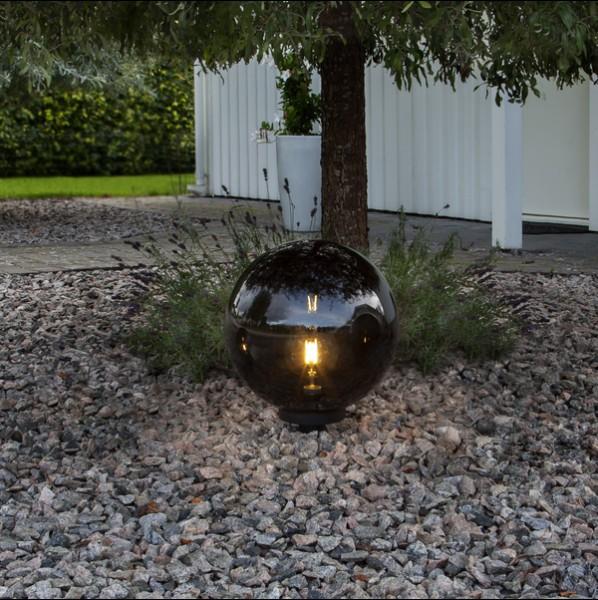 LED Dekokugel ORBY, schwarz, Größe Ø 40 cm
