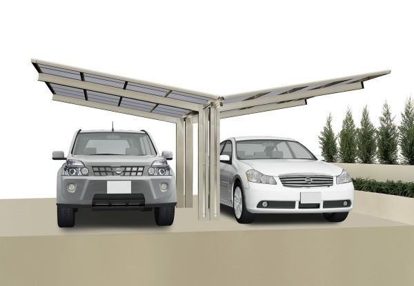 Ximax Carport Linea Typ 60 Y-Ausführung Edelstahl-Look