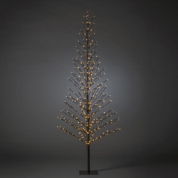 B-Ware: LED Lichterbaum, schwarz, Höhe ca. 210 cm