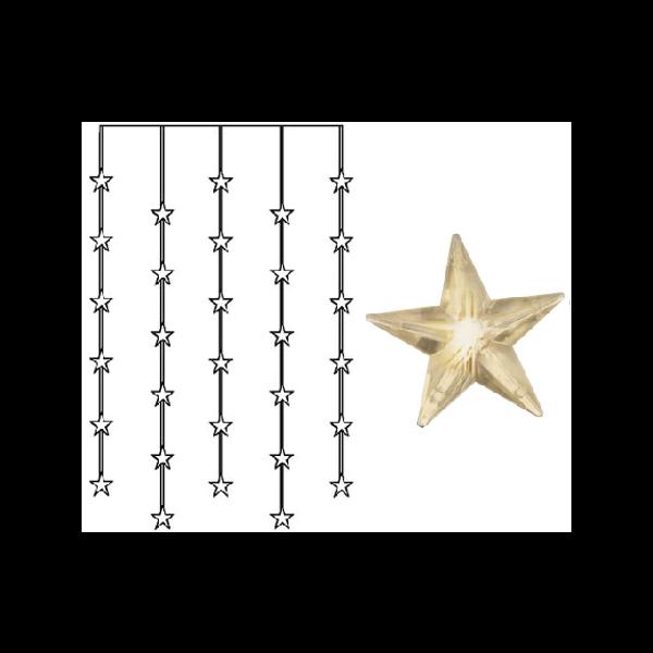 Best Season LED-Lichtervorhang mit Sternen, 30-teilig