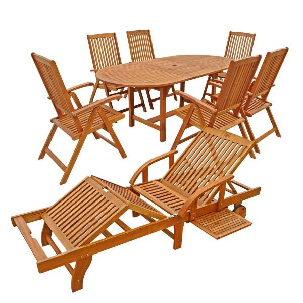 8-teilig Set Gartenmöbel SUN SHINE