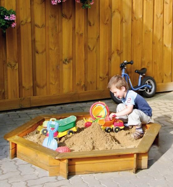 Holz Sandkasten TONI