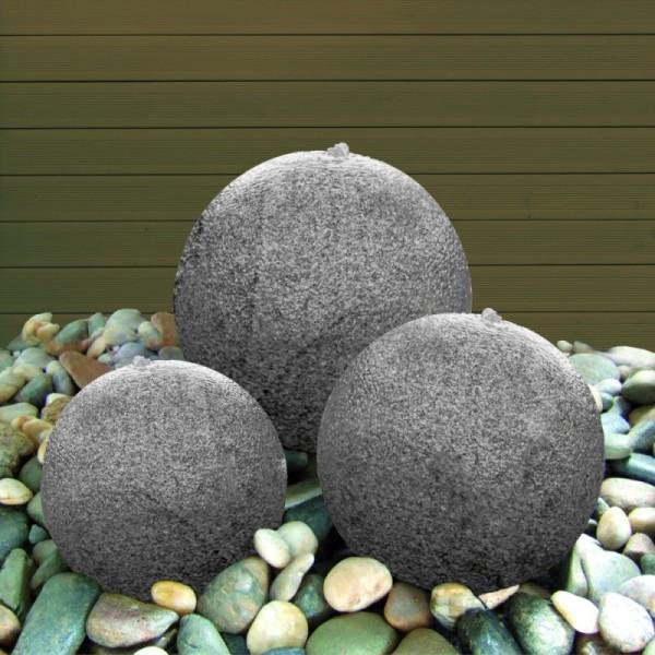 Wasserspiel-Set mit 3 Granitkugeln, Komplettset