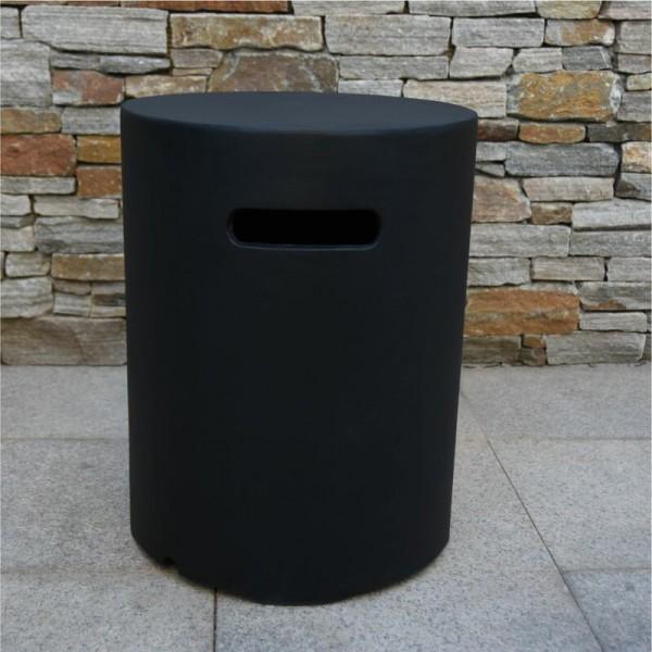 Abdeckung für Gasflaschen, Beton-Optik schwarz, für 5 kg Gasbehälter