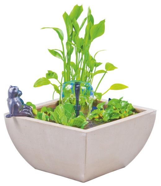 Heissner Wassergarten Set mit sitzender Froschfigur