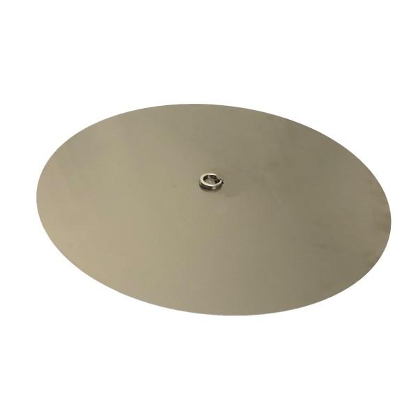 Edelstahl-Abdeckung mit Ring-Griff für Gas-Feuerstellen