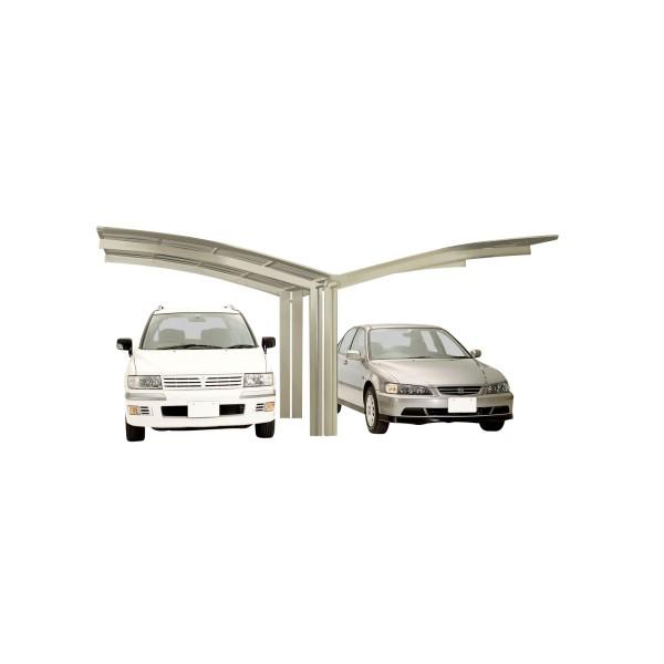 Ximax Carport Portoforte Typ 60 Y-Ausführung Edelstahl-Look
