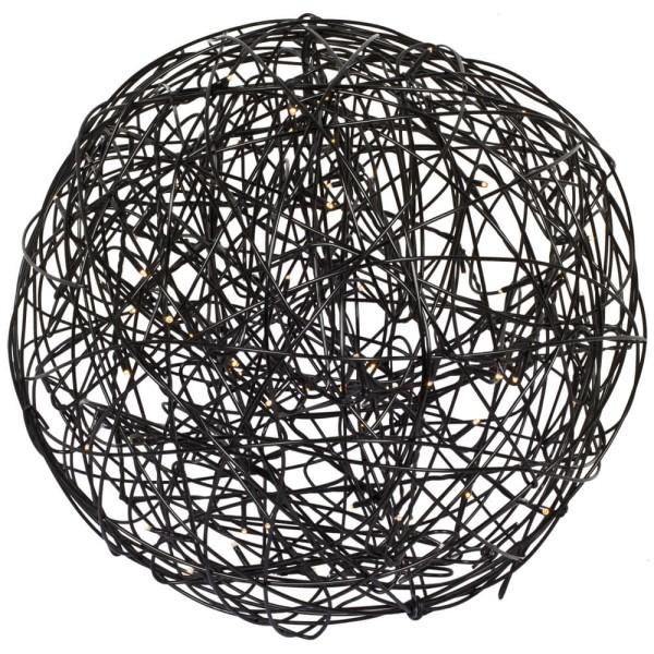 Best Season LED Dekoleuchte Drahtball TRASSEL, schwarz, Ø 30 cm