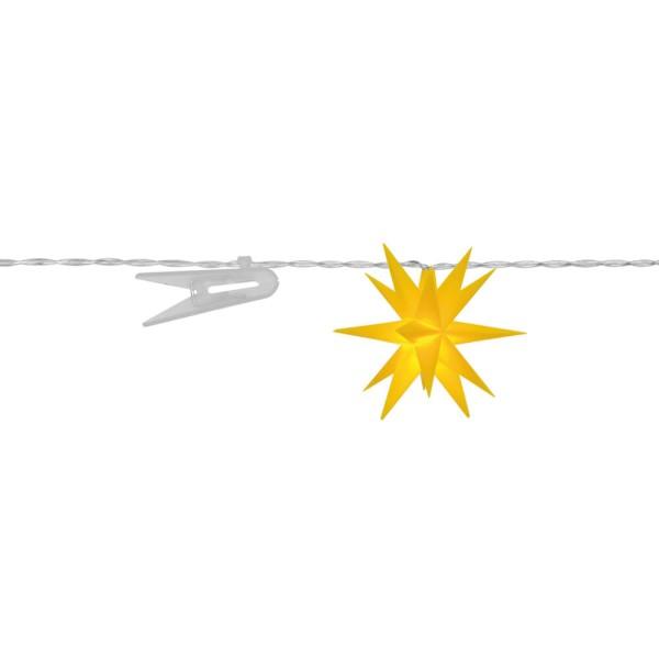 LED Dekolichterkette Sterne, gelb, Ø 8 cm