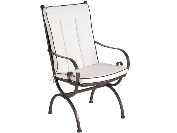 MBM Sitz-/Rückenkissen Sessel Romeo Elegance Uni Natur