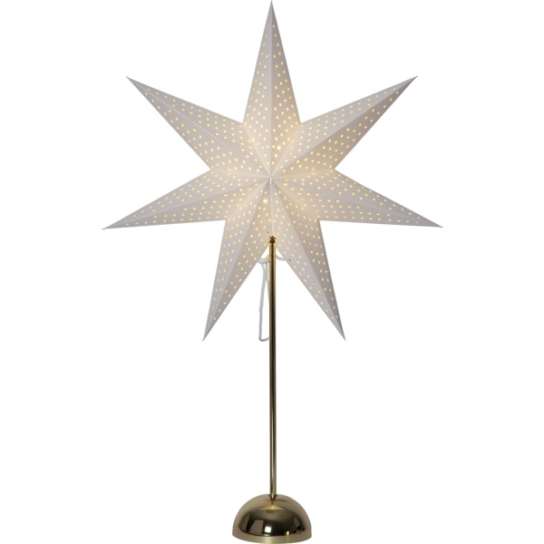 Best Season LED Standleuchte Stern LOTTI, ca. 75 x 50 cm, messing