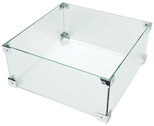 Happy Cocooning Glasschirm für Feuertisch, quadratisch, groß