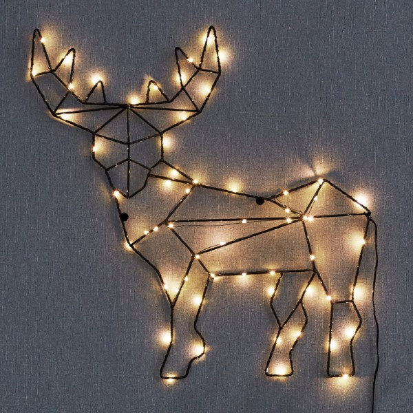 LED-Rentier CUPID, 59 warmweiße LEDs