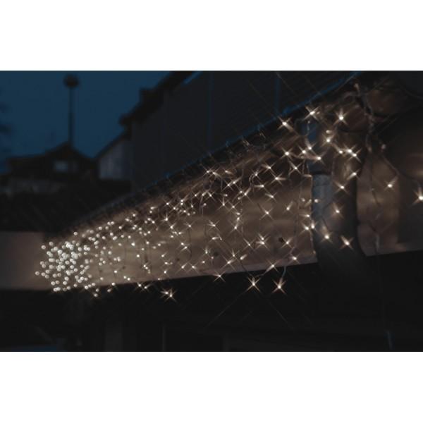 Max Pferdekaemper LED-Minilichtervorhang, 152 weiße LEDs