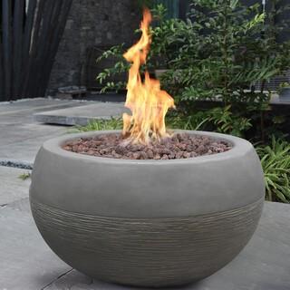 Gardenforma Gasfeuerstelle Marra, Beton-Optik grau, Faserbeton