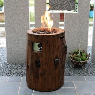 Gas Feuerstelle Semeru aus Eco Stone