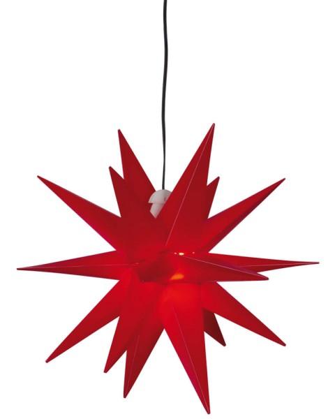 Max Pferdekaemper LED-Weihnachtsstern rot