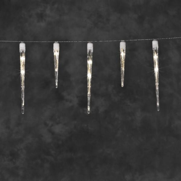 LED Eiszapfen Lichtervorhang mit 16 Zapfen - 1375 cm