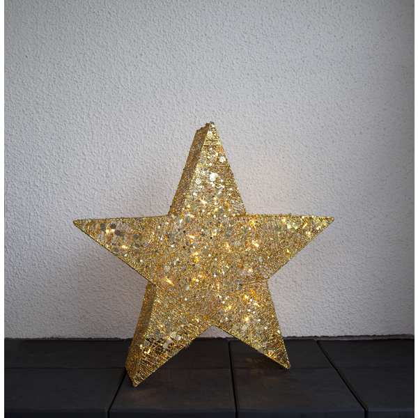 LED-Stern SEQUINI, gold, ca. 70 cm