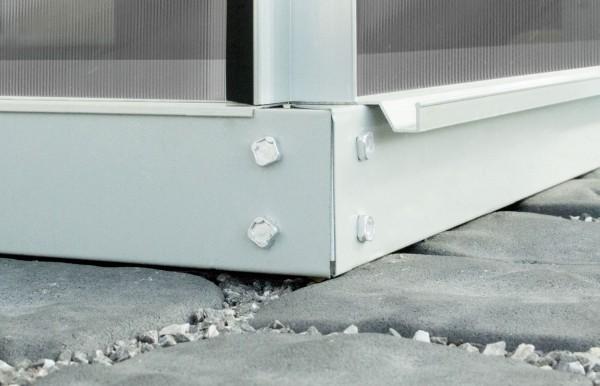 Vitavia Stahlfundament für Gewächshaus Styx/Ida 3300