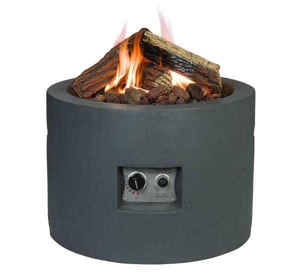 Happy Cocooning Feuertisch in Beton-Optik, rund Ø 61 cm, grau