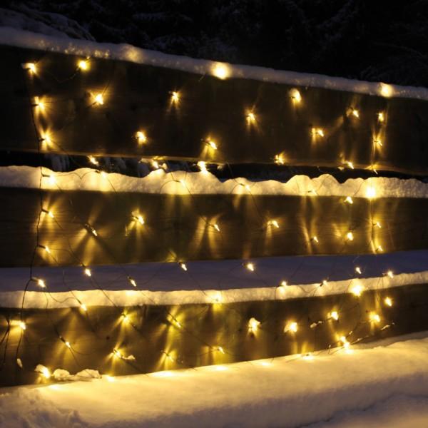 LED-Lichternetz, 200 warmweiße LEDs