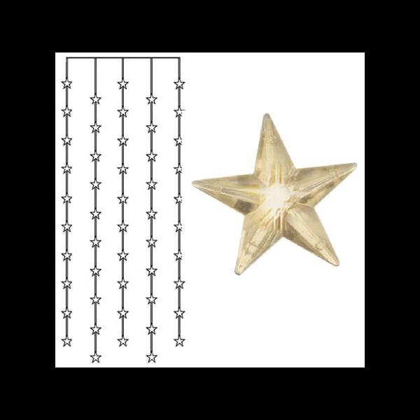 Best Season LED-Lichtervorhang mit Sternen, 50-teilig