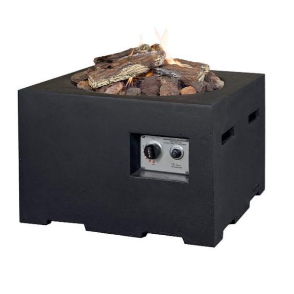 Happy Cocooning Feuertische in Beton-Optik, quadratisch, klein, schwarz