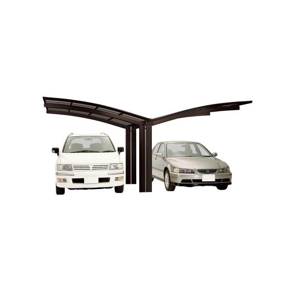 Ximax Carport Portoforte Typ 60 Y-Ausführung Mattbraun