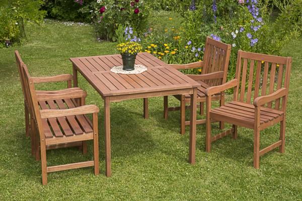 Merxx Santos Set 5-teilig, Sessel und Tisch 150 x 90 cm