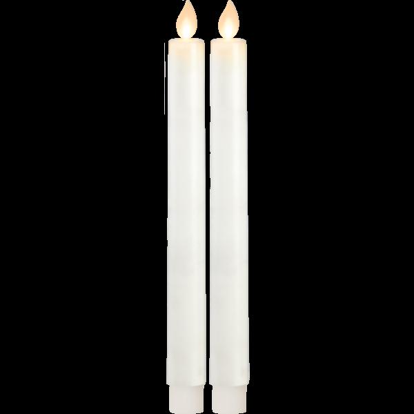 Best Season LED-Echtwachskerzen TWINKLE, 2er-Set, Höhe ca. 24 cm