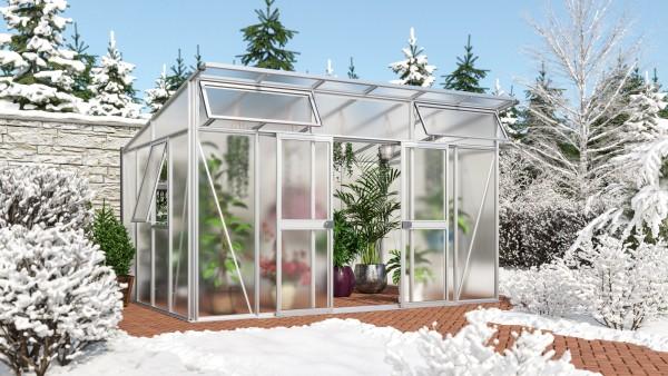 Vitavia Gewächshaus Aura 11500, HKP 10 mm, Weiß