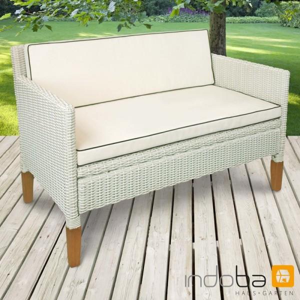 2,5-Sitzer Sofa HAVANNA, Polyrattan und Holz