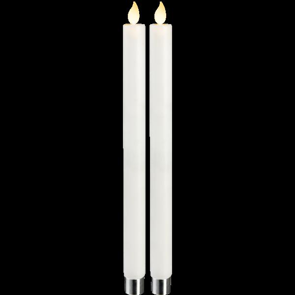 LED Echtwachskerzen TWINKLE, 2er-Set, Höhe ca. 30 cm