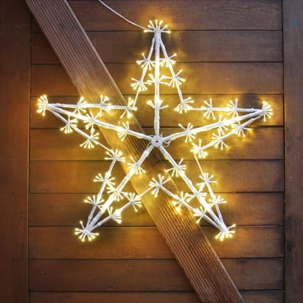 Best Season LED-Lichtmotiv Stern, warmweiße LEDs