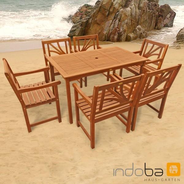 Indoba 7-teilig Set Gartenmöbel LOTUS