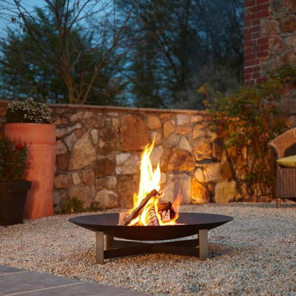 Feuerschale Feuerstelle Sunset mit Rostpatina in 2 Größen lieferbar