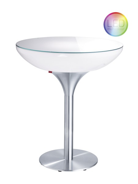 Moree Tisch Lounge 105 LED Accu Outdoor