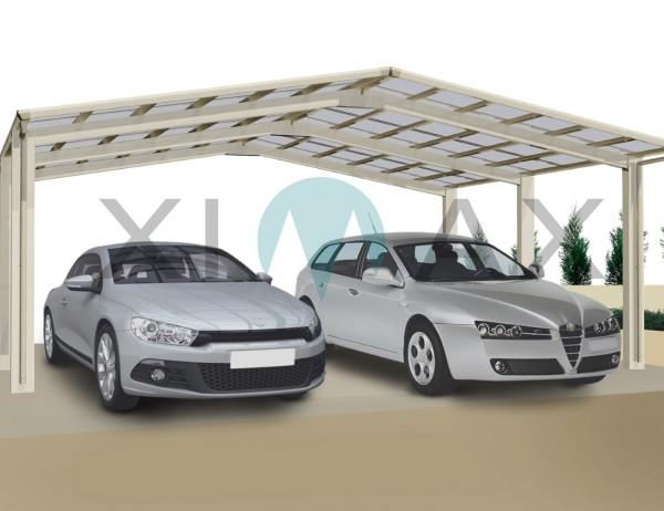 Ximax Carport Linea Typ 110 M-Ausführung Edelstahl-Look