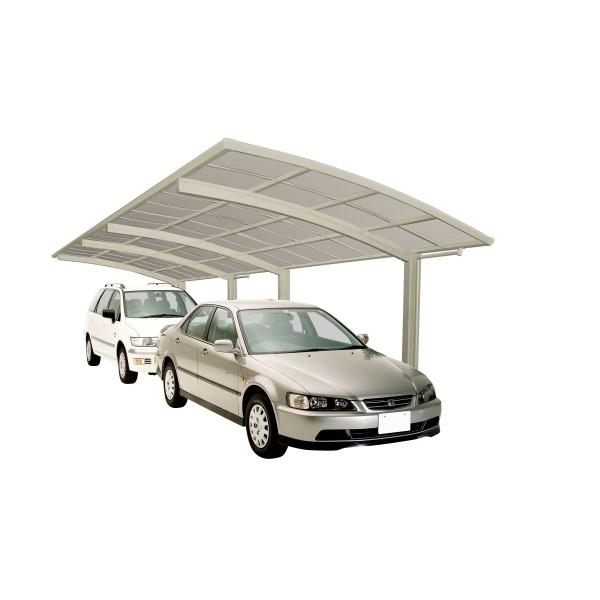 Ximax Carport Portoforte Typ 60 Tandem Edelstahl-Look