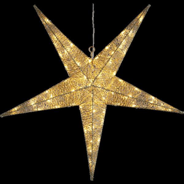 Best Season LED Hängestern SEQUINI, gold, ca. 75 cm