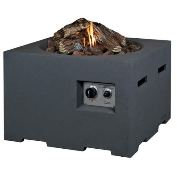 Happy Cocooning Feuertische in Beton-Optik, quadratisch, klein, grau
