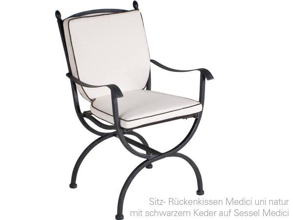 MBM Sitz-/Rückenkissen uni Natur, passend zum Sessel Medici