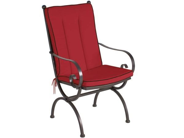 MBM Sitz-/Rückenkissen Sessel Romeo Elegance Rot