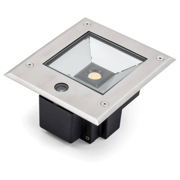 Konstsmide High Power LED Bodeneinbaustrahler, inkl. Dämmerungssensor